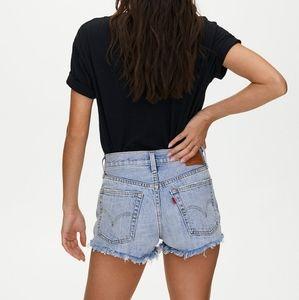 Levi's 501 denim cut off shorts med wash size 27